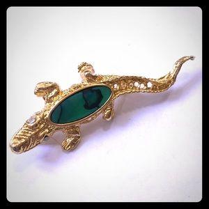 Alligator Brooch